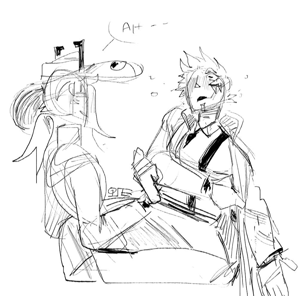Redmond starts to strip her shirt off. Jesse recoils, bashfully. 'Ah--'